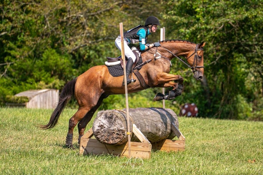 Emily and Cooper eventing at the New Jersey Horse Park